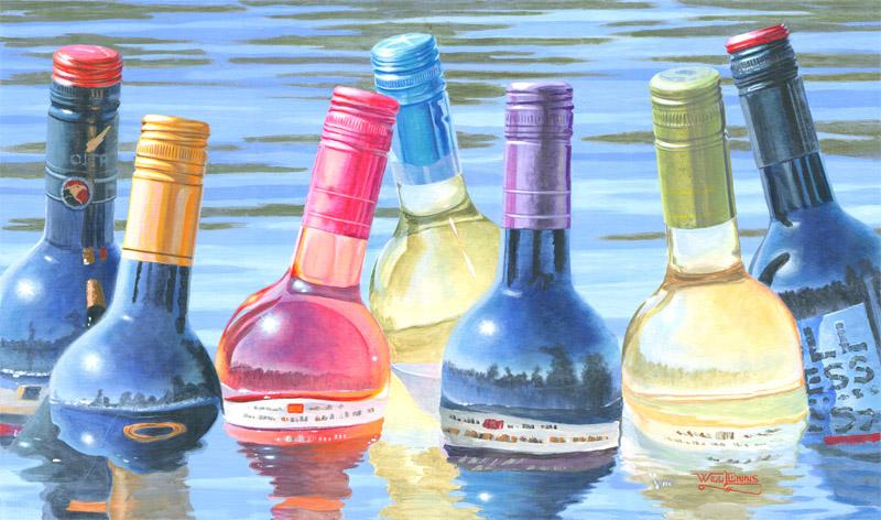 Will Enns Art Studio Jazz Art Wine Art Okanagan Art