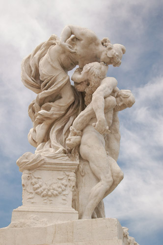 Magnificent marble sculptures are literally everywhere.