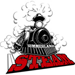 Summerland Steam Logo, artistic design work, commercial art